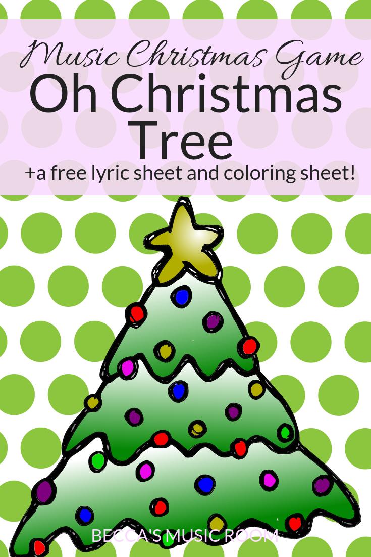 Music Christmas Game: Oh Christmas Tree - Becca\'s Music Room